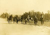 1910 Horseback riders in Hollywood