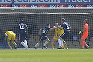 Southend United midfielder Harry Bunn (30) scores a goal and celebrates 2-0 during the EFL Sky Bet League 1 match between Southend United and Burton Albion at Roots Hall, Southend, England on 22 April 2019.