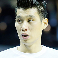 01 November 2015: Close view of Charlotte Hornets guard Jeremy Lin (7) haircut during the Atlanta Hawks 94-92 victory over the Charlotte Hornets, at the Time Warner Cable Arena, in Charlotte, North Carolina, USA.