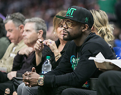 December 17, 2018 - Los Angeles, California, United States of America - Floyd Joy Mayweather Jr. attends the game between the Los Angeles Clippers and the Portland Trailblazers on Monday December 17, 2018 at the Staples Center in Los Angeles, California. Clippers lose to Trailblazers, 127-131. JAVIER ROJAS/PI (Credit Image: © Prensa Internacional via ZUMA Wire)