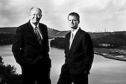 Donald and Stephen Yacktman. Donald is the   President and Co-Chief Investment Officer.  Stephen is Vice President, Portfolio Manager and Co-Chief Investment Officer.  Photographed in Austin, Tx, for Fortune Magazine. 2009-11.