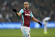 Sofiane Feghouli of West Ham United looking on. Premier league match, West Ham Utd v West Bromwich Albion at the London Stadium, Queen Elizabeth Olympic Park in London on Saturday 11th February 2017.<br /> pic by John Patrick Fletcher, Andrew Orchard sports photography.
