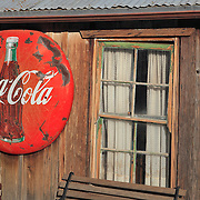 Coca Cola Sign And Old Pane Glass Window - Eldorado Canyon - Nelson NV