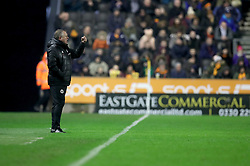 """Sheffield United manager Chris Wilder during the Sky Bet Championship match between Wolverhampton Wanderers and Sheffield United. PRESS ASSOCIATION Photo. Picture date: Saturday February 3, 2018. See PA story SOCCER Wolves. Photo credit should read: Chris Radburn/PA Wire. RESTRICTIONS: EDITORIAL USE ONLY No use with unauthorised audio, video, data, fixture lists, club/league logos or """"live"""" services. Online in-match use limited to 75 images, no video emulation. No use in betting, games or single club/league/player publications."""