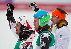 18.02.2011, Kandahar, Garmisch Partenkirchen, GER, FIS Alpin Ski WM 2011, GAP, Herren, Riesenslalom, im Bild bronze Medaille Philipp Schoerghofer (AUT), Gold Medaille und Weltmeister Ted Ligety (USA) und silber Medaille Cyprien Richard (FRA) // bronze Medal Philipp Schoerghofer (AUT), silver medal Cyprien Richard (FRA) and Gold Medal and World Champion Ted Ligety (USA) during men's Giant Slalom Fis Alpine Ski World Championships in Garmisch Partenkirchen, Germany on 18/2/2011. EXPA Pictures © 2011, PhotoCredit: EXPA/ J. Groder