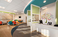 University Physicians Group Culpeper Pediatrics interior design photo by Jeffrey Sauers of Commercial Photographics