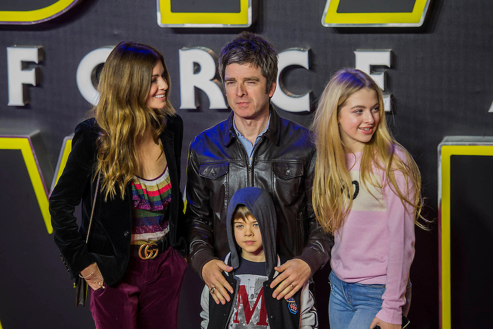 The Gallagher familly - The European Premiere of STAR WARS: THE FORCE AWAKENS - Odeon, Empire and Vue Cinemas, Leicester Square, London.