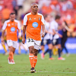 BRISBANE, AUSTRALIA - MARCH 31: Henrique of the Roar looks on during the Round 25 Hyundai A-League match between Brisbane Roar and Central Coast Mariners on March 31, 2018 in Brisbane, Australia. (Photo by Patrick Kearney / Brisbane Roar FC)