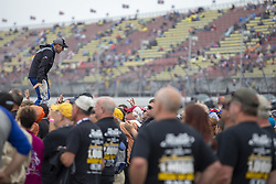 June 10, 2018 - Brooklyn, Michigan, United States of America - Matt Kenseth (6) waits for the start of the FireKeepers Casino 400 during a weather delay at Michigan International Speedway in Brooklyn, Michigan. (Credit Image: © Stephen A. Arce/ASP via ZUMA Wire)