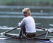 Lucerne, SWITZERLAND GER W1X, Beate SCHRAMM 1992 FISA World Cup Regatta, Lucerne. Lake Rotsee.  [Mandatory Credit: Peter Spurrier: Intersport Images] 1992 Lucerne International Regatta and World Cup, Switzerland