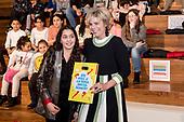 Prinses Laurentien aanwezig bij viering 100 jaar OBA