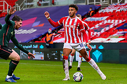 Jacob Brown of Stoke City looks for a route to goal - Mandatory by-line: Nick Browning/JMP - 23/12/2020 - FOOTBALL - Bet365 Stadium - Stoke-on-Trent, England - Stoke City v Tottenham Hotspur - Carabao Cup