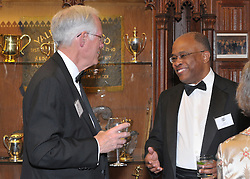 Henry B. Schacht and Kurt Schmoke, Cocktail Reception for Yale University Athletics Blue Leadership 2009 Honorees. Kiphuth Trophy Room, Payne Whitney Gym on 20 November '09.