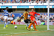 QPR Forward Idrissa Sylla (40) scores a goal (score 2-1) during the EFL Sky Bet Championship match between Queens Park Rangers and Hull City at the Loftus Road Stadium, London, England on 19 August 2017. Photo by Andy Walter.