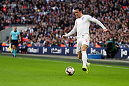 England's Ben Chilwell dribbling during the UEFA Nations League match between England and Croatia at Wembley Stadium, London, England on 18 November 2018.