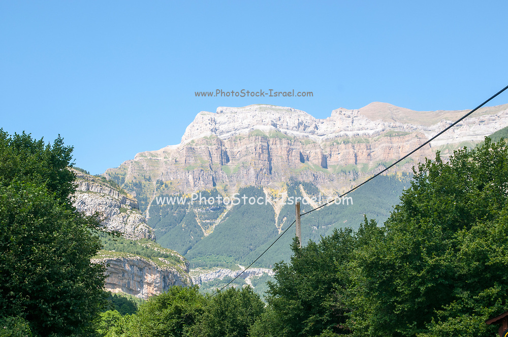 Monte Perdido in Ordesa National Park. Huesca, Aragon, Spain