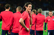 Paris Saint Germain's Uruguayan forward Edinson Cavani gestures during the UEFA Champions League, Group B football match between Paris Saint-Germain and Bayern Munich on September 27, 2017 at the Parc des Princes stadium in Paris, France - Photo Benjamin Cremel / ProSportsImages / DPPI