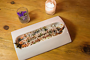 Grilled carrots ?elote,? honey butter, lime crema, coriander, feta