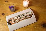 Grilled carrots ?elote,? honey butter, lime crema, coriander, feta
