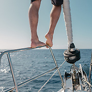 Boat sailing around the Azores island and watching aquatic wildlife.