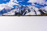 The Tetons in winter, Grand Teton National Park, Wyoming USA
