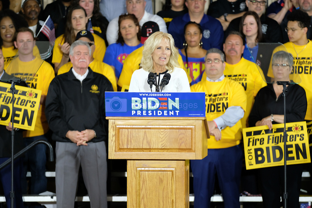 April 29, 2019 - Pittsburgh, Pennsylvania, U.S - Dr. JILL BIDEN introduces her husband Joe Biden, who kicked off his campaign for president in Pittsburgh, Pennsylvania. (Credit Image: © Preston Ehrler/ZUMA Wire)