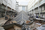 Oasis of the Seas at the shipyard in Turku, Finland where she is being built..Photos show Royal Caribbean's latest  ship 2 months before completion. .Central Park.