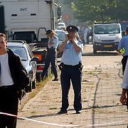 Gas lekkage bij BNI Huizen, telefonisch overleg, meldkamer
