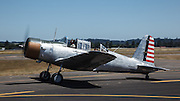 Vultee BT-13 taxiing at Warbirds Over the West.