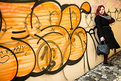 Blogerka Nataša Mernik, avtorica bloga AnaKrajevska// Blogger Natasa Mernik, an author of Anakrejevska.com blog, on February 14, 2017 in Ljubljana, Slovenia. Photo by Vid Ponikvar / Sportida