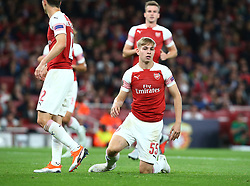 September 20, 2018 - London, England, United Kingdom - Arsenal's Emile Smith Rowe.during UAFA Europa League Group E between Arsenal and FC Vorskla Poltava at Emirates stadium , London, England on 20 Sept 2018. (Credit Image: © Action Foto Sport/NurPhoto/ZUMA Press)