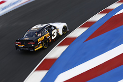 September 27, 2018 - Concord, North Carolina, United States of America - Brendan Gaughan (3) brings his car through the turns during practice for the Drive for the Cure 200 at Charlotte Motor Speedway in Concord, North Carolina. (Credit Image: © Chris Owens Asp Inc/ASP via ZUMA Wire)