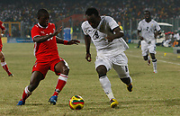 Photo: Steve Bond/Richard Lane Photography.<br />Ghana v Namibia. Africa Cup of Nations. 24/01/2008. Michael Essien (R) is closed down by Lazarus Kaimbi (L)