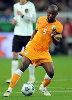 Fotball<br /> Tyskland v Elfenbenskysten<br /> Foto: Witters/Digitalsport<br /> NORWAY ONLY<br /> <br /> 18.11.2009<br /> <br /> Didier Zokora<br /> Fussball Elfenbeinkueste<br /> Fussball Testspiel Deutschland - Elfenbeinkueste 2:2