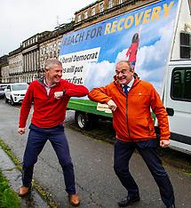 Scottish Liberal Democrat leader launches campaign poster, Edinburgh, 4 May 2021