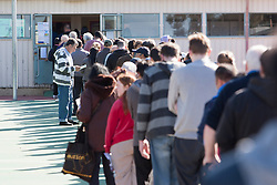 © Licensed to London News Pictures. 7/9/2013. Australian voters  line up in the electorate of Bruce during the Australian Federal Election. Photo credit : Asanka Brendon Ratnayake/LNP