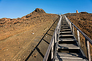 Walkway & tourists<br /> Bartolome Island<br /> Galapagos<br /> Ecuador, South America