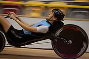 David Wielemaker doet een poging om het wereldrecord op de 200m te verbreken