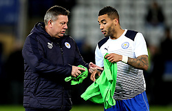 Leicester City Interim First Team Manager Craig Shakespeare and Danny Simpson of Leicester City swap bibs - Mandatory by-line: Robbie Stephenson/JMP - 27/02/2017 - FOOTBALL - King Power Stadium - Leicester, England - Leicester City v Liverpool - Premier League