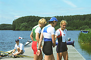 2002 FISA World Cup. Hazewinkel. BEL.       Friday  14/06/2002     .email images@Intersport-images.com.[Mandatory Credit: Peter Spurrier/Intersport Images]  .                                 /06/2002.Rowing. .Women's Single Sculls Medals..Gold Medalist: . BLR W1X; Ekaterina KARSTEN .Silver Medalist CZE.W1X Mirka KNAPKOVA .Bronze Medalist RUS W1X Julia LEVINA Rowing, FISA WC.Hazenwinkel, BEL