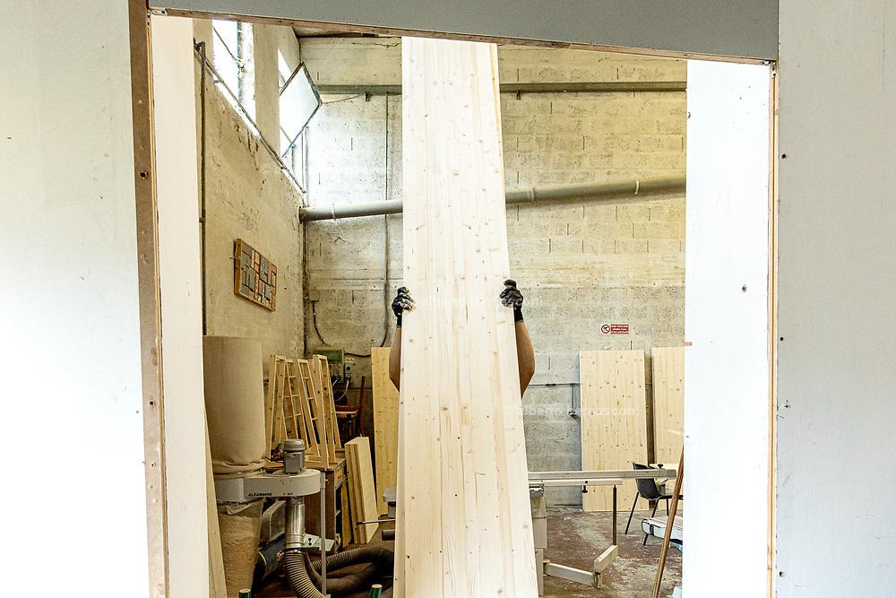Italy, Capannori, the carpentry at Daccapo warehouse, Osula