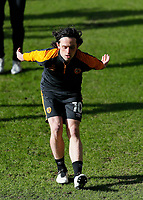 Hull City's George Honeyman during the pre-match warm-up <br /> <br /> Photographer Lee Parker/CameraSport<br /> <br /> The EFL Sky Bet League One - Hull City v Oxford United - Saturday 13th March 2021 - KCOM Stadium - Kingston upon Hull<br /> <br /> World Copyright © 2021 CameraSport. All rights reserved. 43 Linden Ave. Countesthorpe. Leicester. England. LE8 5PG - Tel: +44 (0) 116 277 4147 - admin@camerasport.com - www.camerasport.com