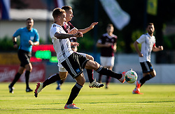 Tilen Mlakar of Triglav vs Karamarko Marin of Mura during football match between NK Triglav and NS Mura in 5th Round of Prva liga Telekom Slovenije 2019/20, on August 10, 2019 in Sports park, Kranj, Slovenia. Photo by Vid Ponikvar / Sportida