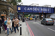 "Entrance to Camden Road Overground station in London, UK. Originally opened as ""Camden Town"" by the North London Railway on 8 December 1870. It was renamed ""Camden Road"" on 25 September 1950 to avoid confusion with the London Underground Northern line Camden Town which is 450 metres to the southwest."