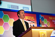 Damien English TD, Minister of State at the Department of Jobs, Enterprise & Innovation at the annual SCCUL Enterprise Awards prize giving ceremony and business expo which was hosted by NUI Galway in the Bailey Allen Hall, NUIG. Photo:Andrew Downes