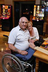 Couple enjoying a night out playing bingo,