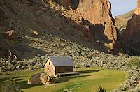 Cabin in Leslie Gulch in the Owyhee Uplands of SE Oregon