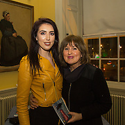 08.12.2016                   <br /> Pictured at the launch of the Shannon Airport Christmas Racing Festival at Hunt Museum were, Megan Roberts and Mary Ryall. Picture: Alan Place