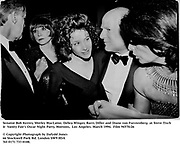 Senator Bob Kerrey, Shirley MacLaine, Debra Winger, Barry Diller and Diane von Furstenberg  at Steve Tisch &  Vanity Fair's Oscar Night Party,<br />Mortons,  Los Angeles. March 1994.  Film 94570/26<br /> <br />© Copyright Photograph by Dafydd Jones<br />66 Stockwell Park Rd. London SW9 0DA<br />Tel 0171 733 0108.
