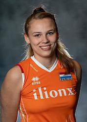 14-05-2019 NED: Photoshoot national volleyball team Women, Arnhem<br /> Sarah van Aalen of Netherlands